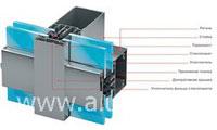 Стоечно-ригельная фасадная система  Alutech Alt  F50
