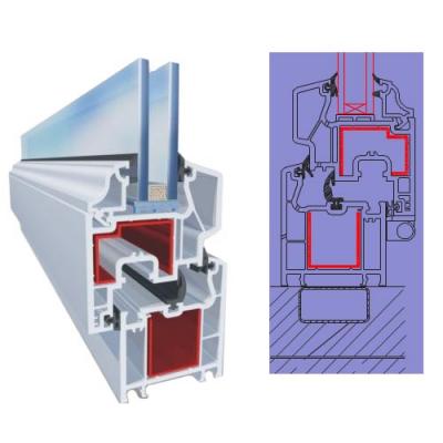 трехкамерная профильная система со средним уплотнением Vera 6002