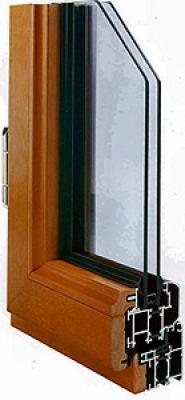 Профиль оконный алюмо-деревянный