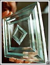 Имитация фацета в стеклопакете
